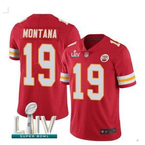 Men's Kansas City Chiefs #19 Joe Montana Jersey